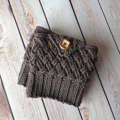 Diagonal Weave Boot Cuffs