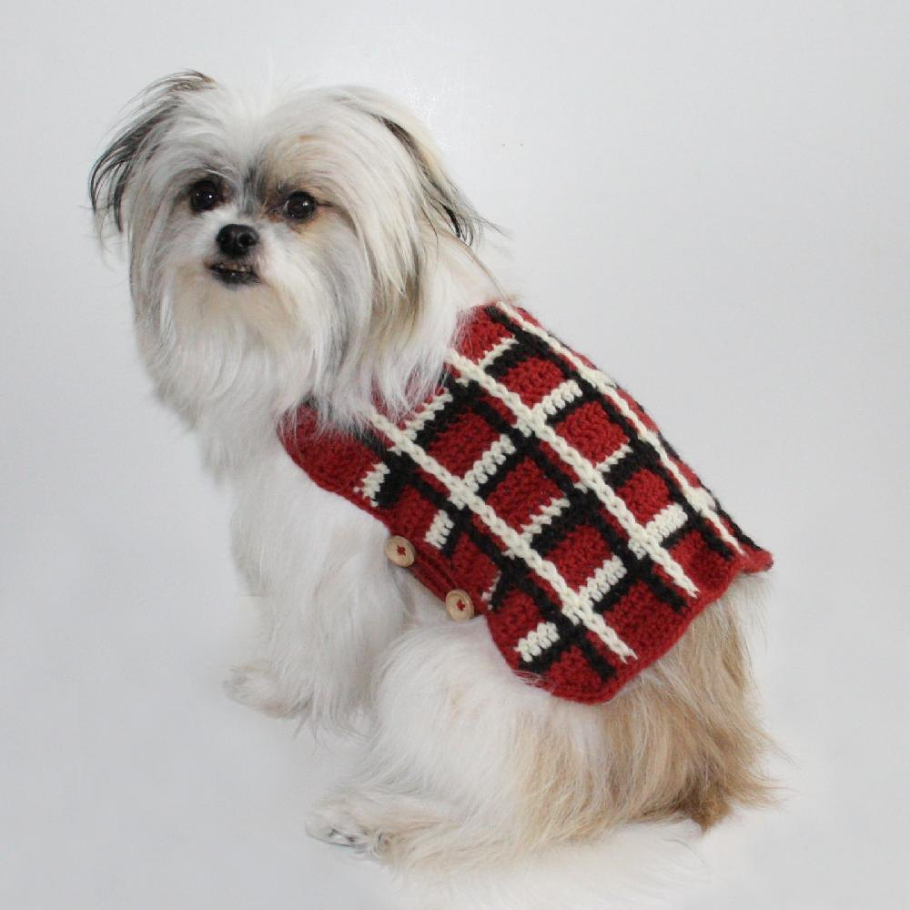 Plaid Dog Sweater Crochet Patterns Lovecrochet