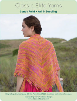 Sandy Point Shawl in Classic Elite Yarns Seedling Handpaints - Downloadable PDF