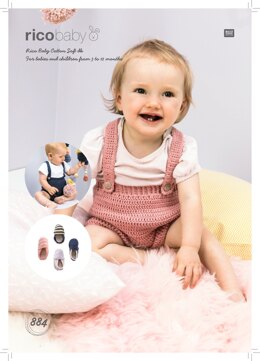 Trousers and Espadrilles in Rico Baby Cotton Soft DK - 884 - Downloadable PDF