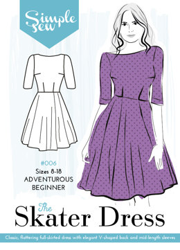 Simple Sew Patterns The Skater Dress #006 - Sewing Pattern