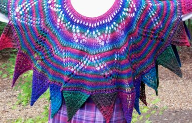 Multi-faceted Shawl (knit in the round)