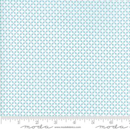 Moda Fabrics First Romance Blue Eye Floral Cut to Length - Garden Gate Aqua