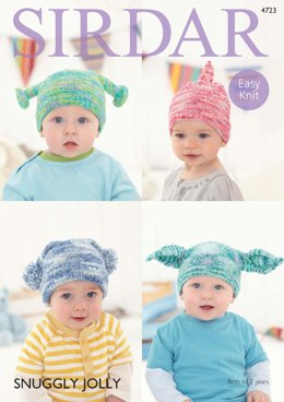Hats in Sirdar Snuggly Jolly - 4723 - Downloadable PDF