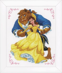 Vervaco Counted Cross Stitch Kit: Disney Beauty & The Beast - 31 x 36cm