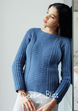 Rosemary Sweater in Debbie Bliss Iris - Downloadable PDF