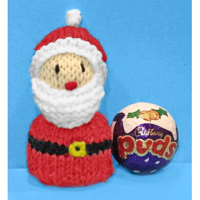 Christmas Santa Puds chocolate cover