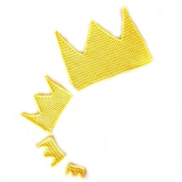 Frog prince crown applique