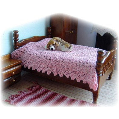 1:24th scale Lace bedspread and blanket