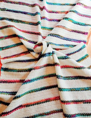 Rose Garden Stripes Throw