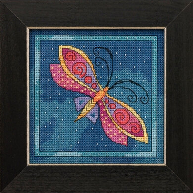 Mill Hill Flying Colors - Dragonfly Capri - 5.75in x 5.75in