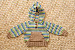 Striped Hoodie & Hat in Tahki Yarns Cotton Classic