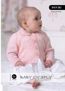 Collar Cardigan in DY Choice Baby Joy 3 Ply