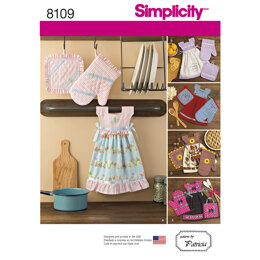 Simplicity Towel Dresses, Pot Holders and Oven Mitts 8109 - Paper Pattern, Size OS (ONE SIZE)