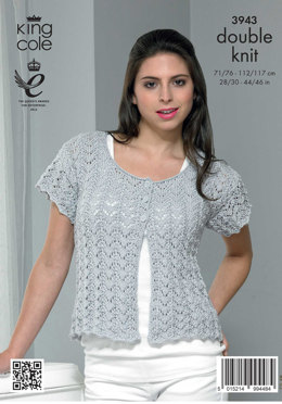 Ladies' Lacy Cardigan and Top in King Cole Smooth DK - 3943