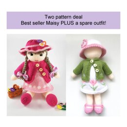 Maisy doll knitting pattern plus spare dolls clothes 19042