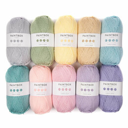 Bella Coco Spring Abstract Blanket - Paintbox Yarns Simply Aran 10 Ball Colour Pack