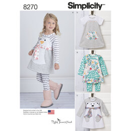 Simplicity Toddlers' Knit Sportswear from Ruby Jean's Closet 8270 - Paper Pattern, Size A (1/2-1-2-3-4)