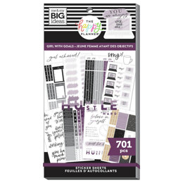 The Happy Planner Girl With Goals 30 Sheet Sticker Pad