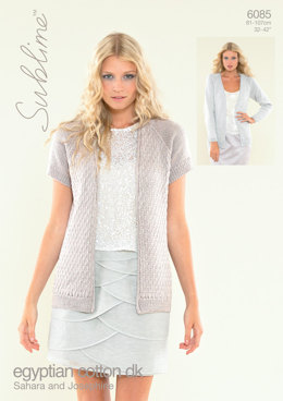 Sahara Cardigan and Josephine Cardigan in Sublime Egyptian Cotton DK - 6085 - Downloadable PDF