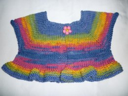 Child's Ruffled Ballerina Shrug