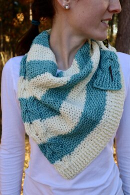 Striped and Cabled Scarf