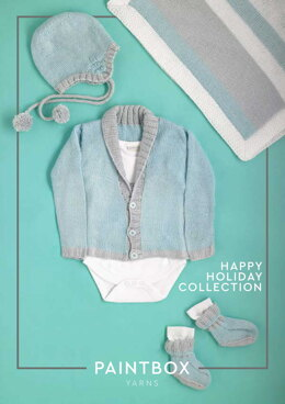 Happy Holiday Collection - Free Layette Knitting Pattern For Babies in Paintbox Yarns Baby DK by Paintbox Yarns