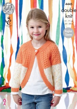 Cardigans in King Cole Smarty DK and Big Value Baby DK - 4445 - Leaflet