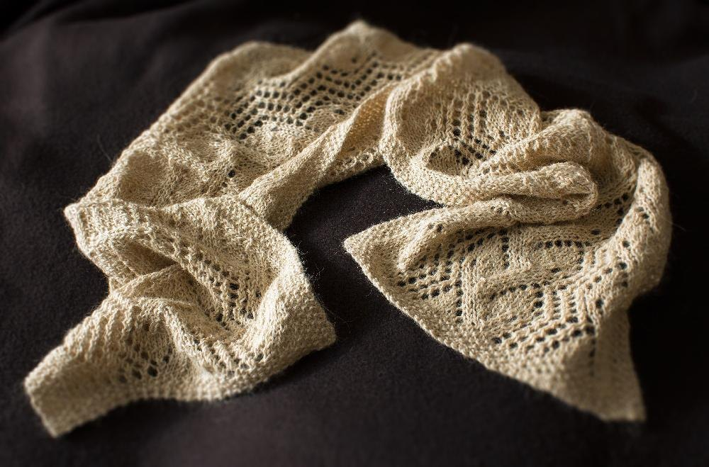 Victorian Leaf And Trellis Scarf Knitting Pattern By
