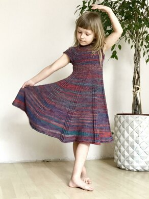 Ribbed Dress For Little Miss