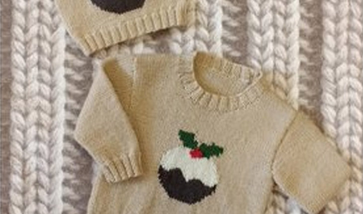 My Little Pudding Children's Sweater and Hat by Woolyknit