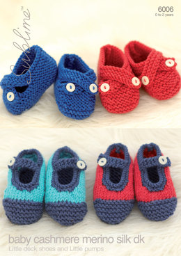 Little Deck Shoes and Little Pumps in Sublime Baby Cashmere Merino Silk DK - 6006 - Downloadable PDF