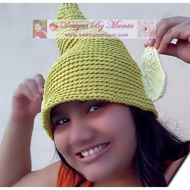 Tinkerbell Fairy Elf Gnome Pixie Hat With Ears Crochet Pattern By