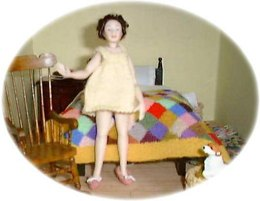 1:12th scale Ladies Baby Doll Nightdress