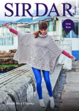 Poncho in Sirdar No.1 Chunky  - 8179 - Downloadable PDF