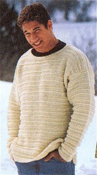 Cape Cod Unisex Pullover Sweater in Lion Brand Fishermen's Wool