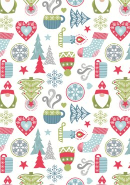 Lewis & Irene Hygge Christmas on Cream Cut to Length