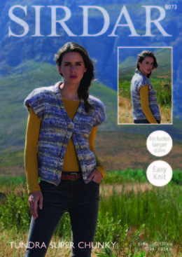 Woman's Waistcoat in Sirdar Tundra Super Chunky - 8073 - Downloadable PDF