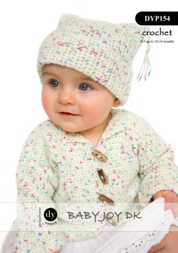 Cardigan & Hat in DY Choice Baby Joy DK Print - DYP154