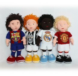 Football Players Crochet Pattern, Soccer Players Crochet Pattern, Crochet Footballer, Barcelona, Juventus, Real Madrid, Manchester United
