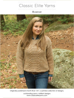 Riverport Pullover in Classic Elite Yarns Tiverton Tweed - Downloadable PDF