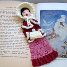 LoisLeigh's Bookmark Series: Woman Victorian Caroler Bookmark/Ornament