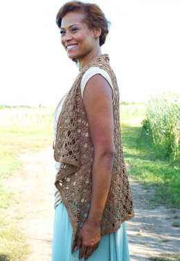 Berne Waistcoat in Berroco Captiva - Downloadable PDF