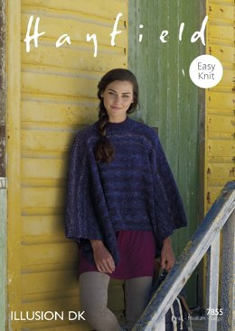 Poncho in Hayfield Illusion DK - 7855- Downloadable PDF