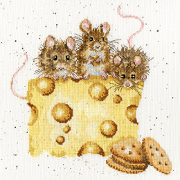 Bothy Threads Hannah Dale - Crackers About Cheese Cross Stitch Kit - 26cm x 26cm