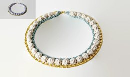 Double color gold chain necklace