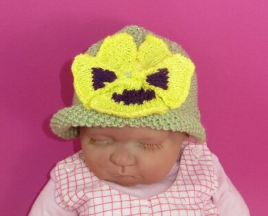 Baby Pansy Flower Summer hat