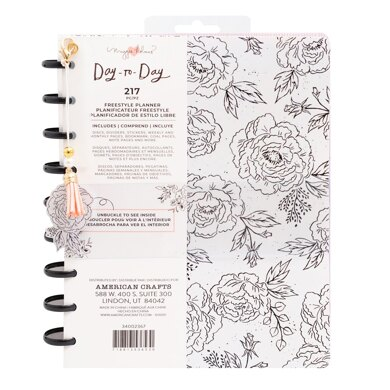 American Crafts Maggie Holmes - Day to Day Freestyle Black & White Floral