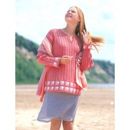 Mitered Squares Tunic in Patons Astra
