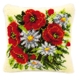 Vervaco Poppies and Daisies Latch Hook Kit